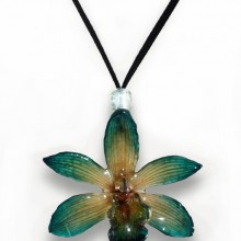 Green Cymbidium Necklace