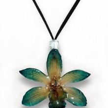 Green Cymbidium Necklace