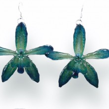Grammatophyllum Green Earrings